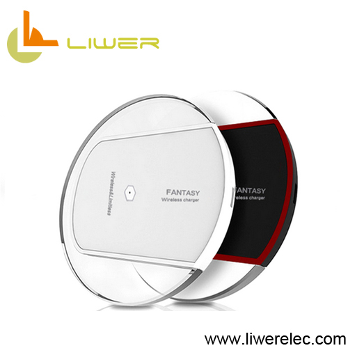 Fast wireless charger Qi technology wireless charging pad circle charger for smartphones