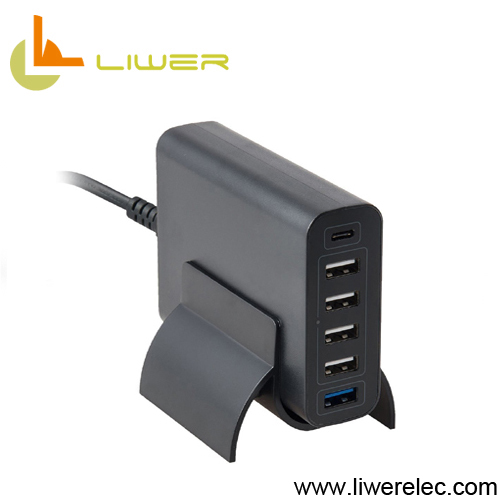 Qualcomm quick charge 3.0 Type-c 60W 12A multi-port usb charger